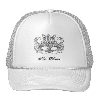 new orleans mask ladies hat
