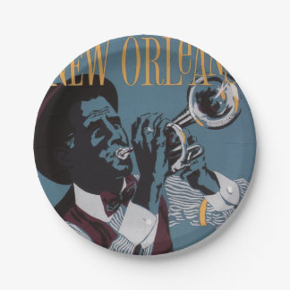 New Orleans Music paper plates