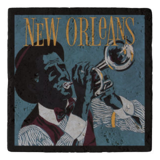 New Orleans Music stone trivet