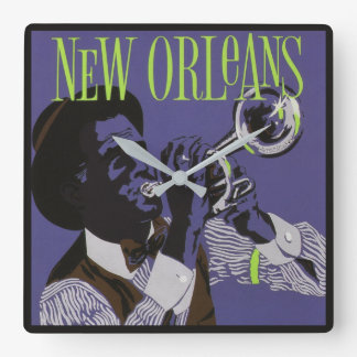 New Orleans Music wall clock