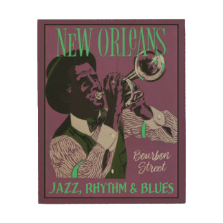 New Orleans Music wood wall art