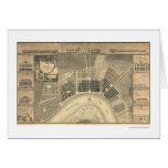 New Orleans Plan Map 1815 Greeting Card