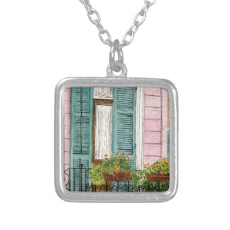 New Orleans Shitters Silver Plated Necklace