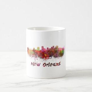 New Orleans skyline in watercolor Coffee Mug