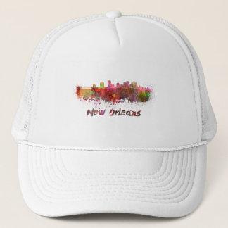 New Orleans skyline in watercolor Trucker Hat