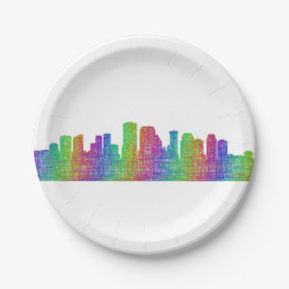 New Orleans skyline Paper Plate