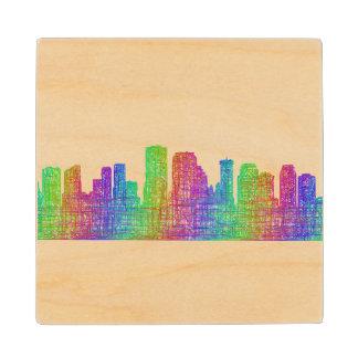 New Orleans skyline Wood Coaster
