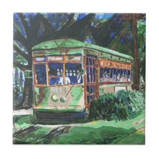 New Orleans St Charles Ave Streetcar Tile