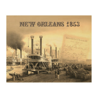 New Orleans Steamboat Wood Print
