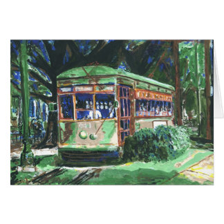 New Orleans Street Car Note Card