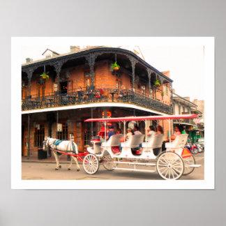 New Orleans Street Scene - Poster