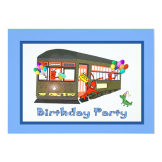 New Orleans Streetcar Birthday Invitations