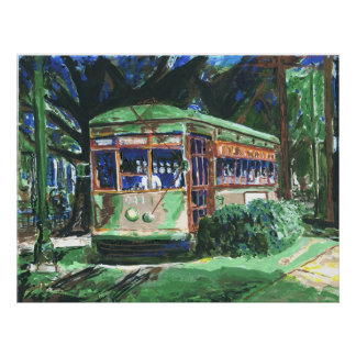 New Orleans Streetcar Painting Poster