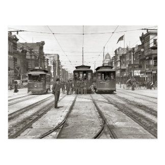 New Orleans Streetcars, 1907 Postcard