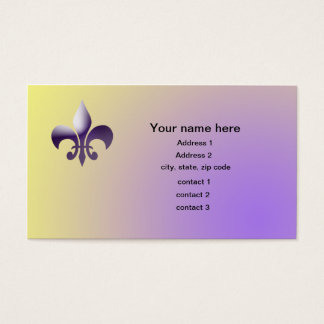 New Orleans Style Fleur de Lys Business Card
