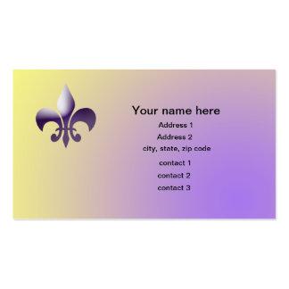 New Orleans Style Fleur de Lys Business Card Template