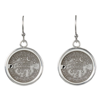 New Orleans Water Meter Cover Earrings