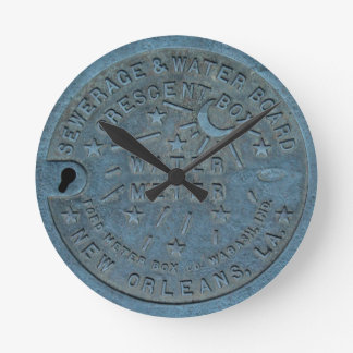 New Orleans Water Meter photo Round Clock