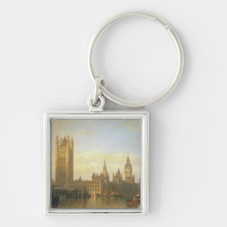 New Palace of Westminster from the River Thames Key Ring