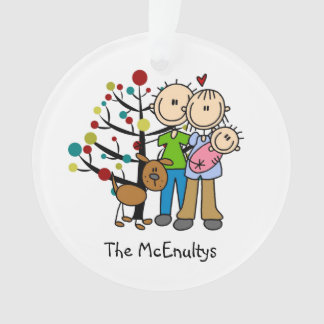 New Parents Baby Girl, Dog Holiday Ornament