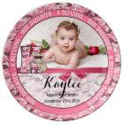 "New Parents Letter ""K"" Pink Camouflage Monogram Plate"