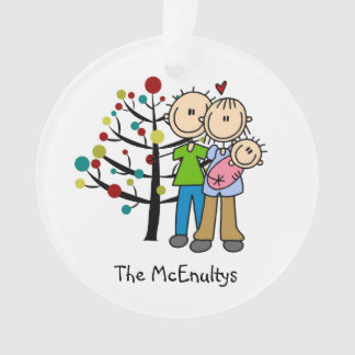 New Parents of a Baby Girl Holiday Ornament