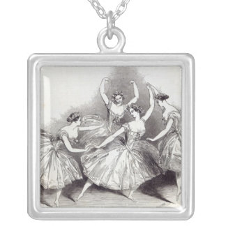 New Pas de Quatre, by Mdlles Silver Plated Necklace