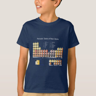 New Periodic Table of Beer Styles T Shirts
