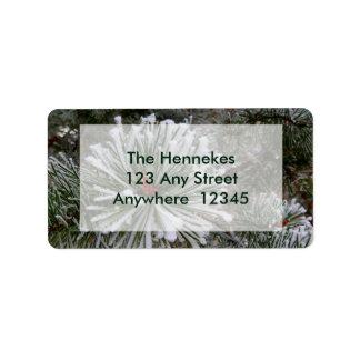 New Pine Cones Address Label