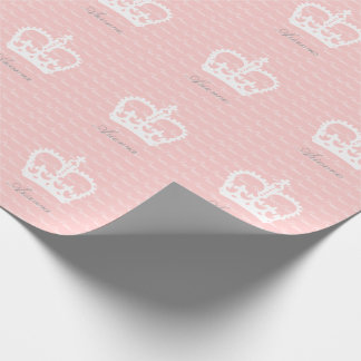 NEW! Pink-n-White Princess Personalized Wrapping Paper
