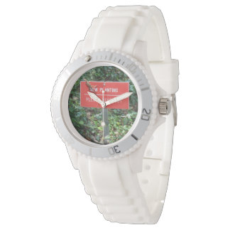 New Planting with Gecko White Silicon Wristwatch