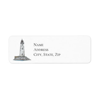 New Point Comfort Lighthouse Return Address Label