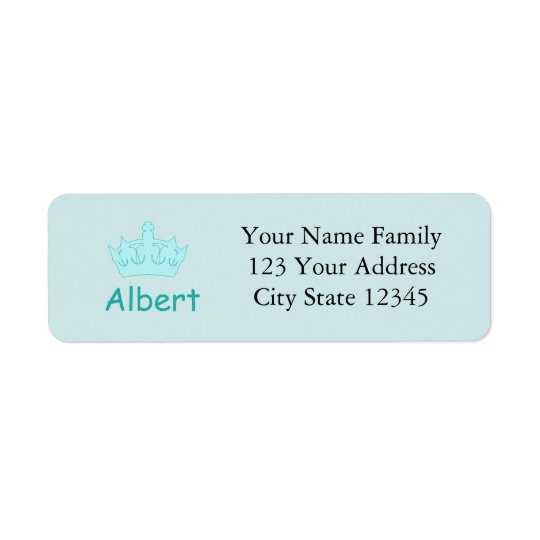 New Prince - a royal baby! Return Address Label