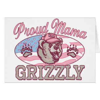 New Proud Mama Grizzly Greeting Card