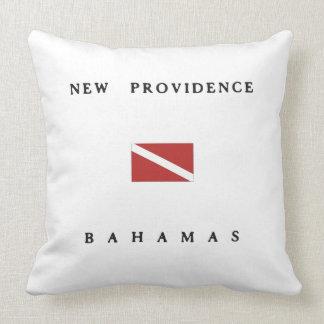 New Providence Bahamas Scuba Dive Flag Pillows