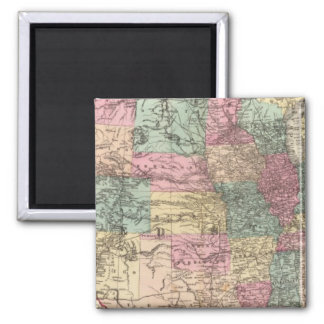 New rail road map of the United States Square Magnet