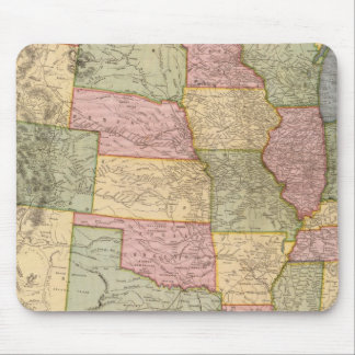 New Railroad Map of the United States Mousepad