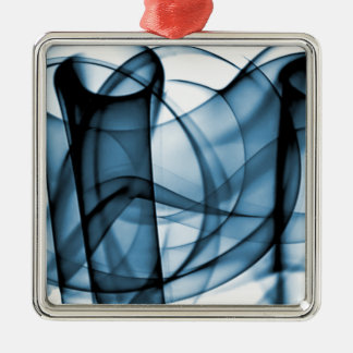 New Rainbow Waves Collection - Blue Wave Silver-Colored Square Decoration