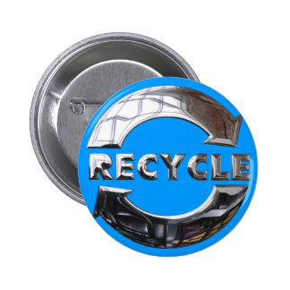 New Recycle Logo Button