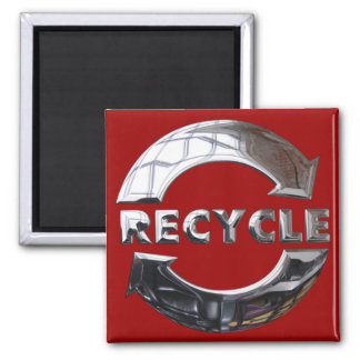 New Recycle Logo Square Magnet