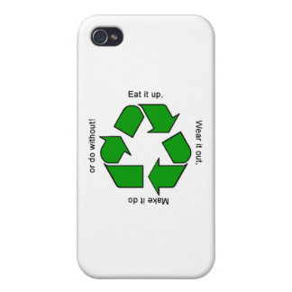 New Recycle Motto Logo iPhone Case Case For The iPhone 4