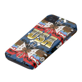 New Red Blue Gold USA iPhone Case Gift iPhone 4 Covers