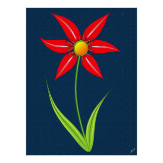 New Red Flower Poster
