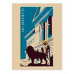 New Retro art institute Chicago advertising Postcard