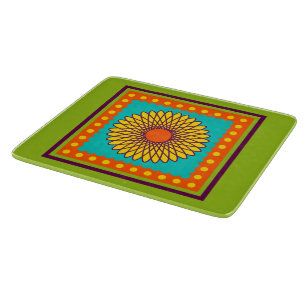 New Retro Spiral Flower Cutting Board