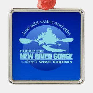 New River (Blue) Metal Ornament