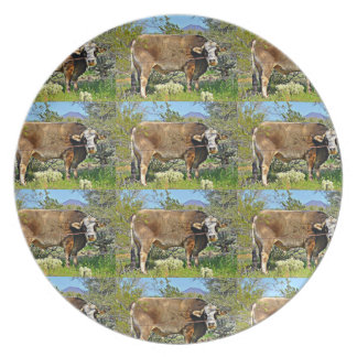 New River Cow Melamine Plate