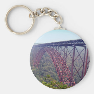 New River Gorge Bridge Basic Round Button Key Ring
