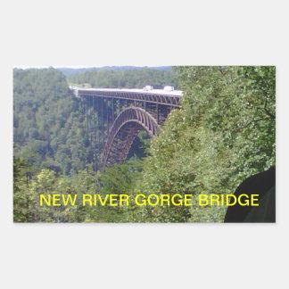 NEW RIVER GORGE BRIDGE WEST VIRGINIA RECTANGULAR STICKER