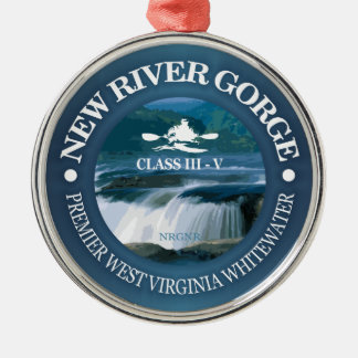 New River Gorge (c) Metal Ornament